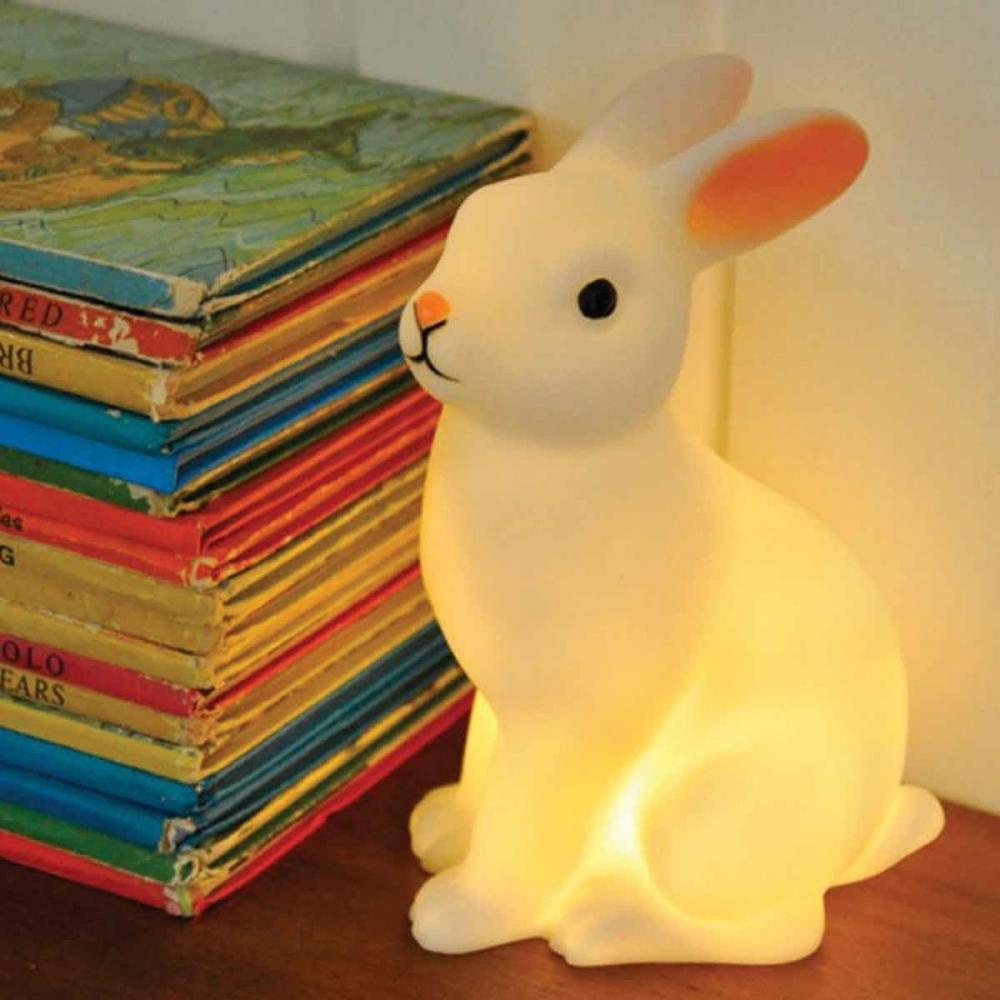 Lampe veilleuse lapin pour d coration chambre b b piles - Veilleuse a pile ...