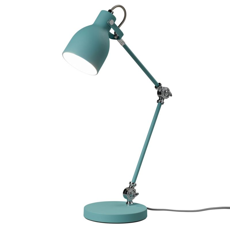 lampe de bureau bleue design lampe bleue task vintage. Black Bedroom Furniture Sets. Home Design Ideas