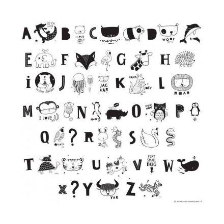 Set de lettres pour light box Kids abc pack Monochrome - A little Lovely Company