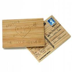 Carte postale en bois à graver