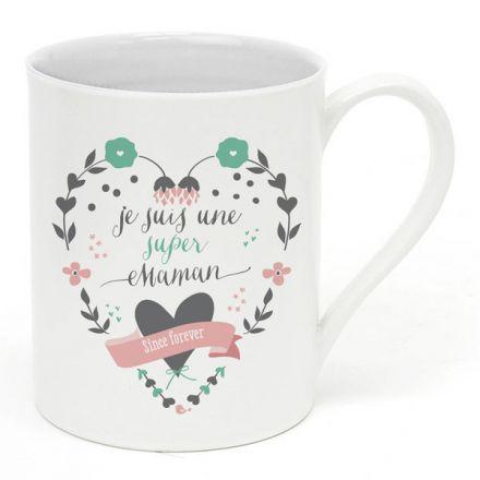 """Mug """"Je suis une super maman"""""""