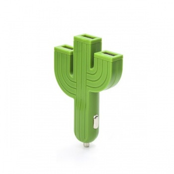 Chargeur 3 ports usb cactus
