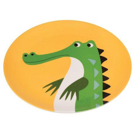 Assiette en mélamine Crocodile pour enfants