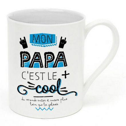 """Mug """"Mon papa c'est le plus cool"""""""