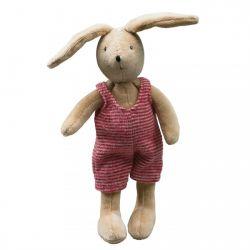 Sylvain le lapin, habit rouge et blac