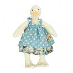 Jeanne la petite cane, robe bleue canard