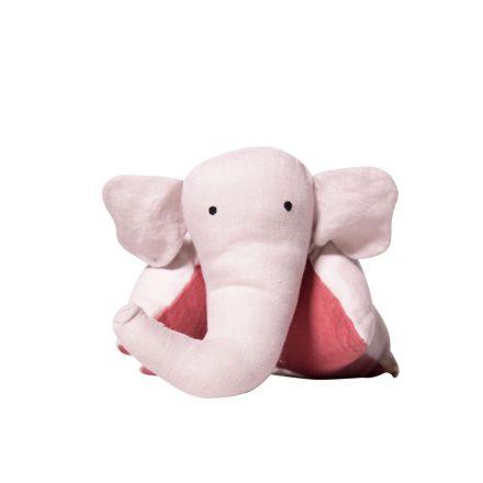 Coussin doudou éléphant dragée toscane