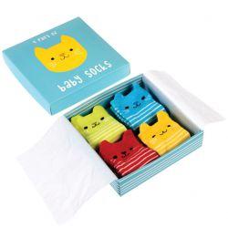 Coffret cadeau 4 chaussettes - bébé chat