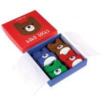 Coffret cadeau 4 chaussettes - bébé ours