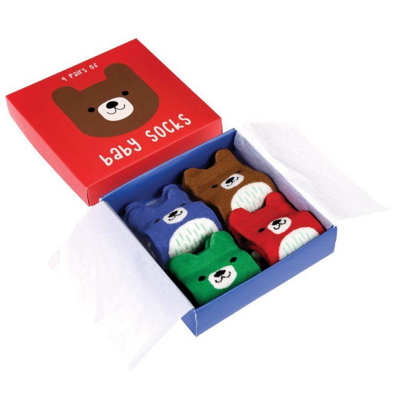 3a266431e54 Coffret cadeau 4 chaussettes - bébé ours. Loading zoom
