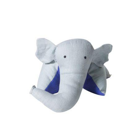 Coussin doudou éléphant nuage majorelle