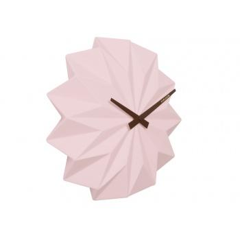 Horloge origami en céramique rose Karlsson