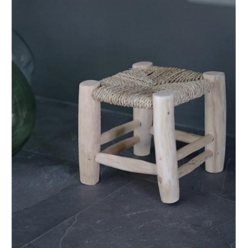 Tabouret 20 cm - paillage - Artisanat marocain