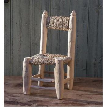 Mini chaise en bois naturel- artisanat marocain