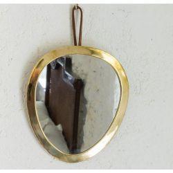 Miroir bords doré Oeuf 24 cm