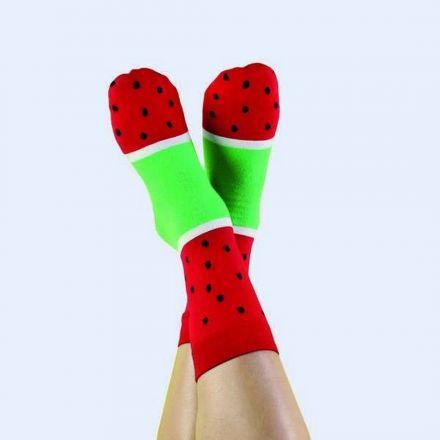 Chaussettes glace pastèque