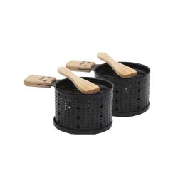 Raclette à la bougie - 2 poêlons