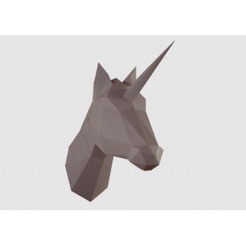 Trophée origami Cheval brun
