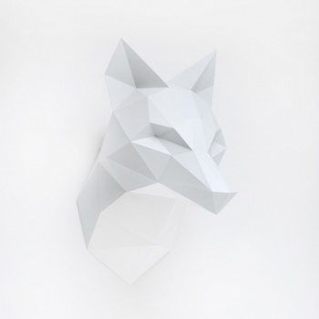 Trophée origami Renard gris