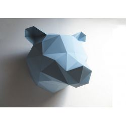 Trophée origami Ours bleu