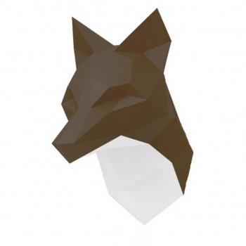 Trophée origami Renard brun