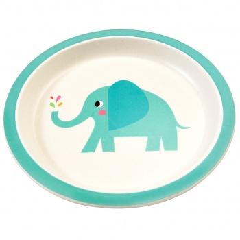 Assiette avec rebords Elvis l'éléphant