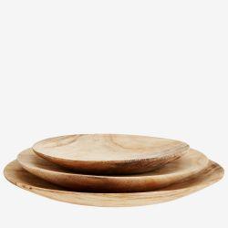 Assiette en bois - grande taille