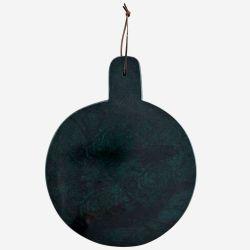 Planche de présentation 29 cm ronde en marbre vert