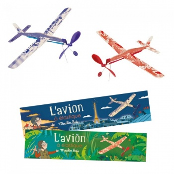 Avion à lancer bleu Moulin Roty