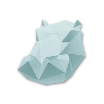 Kit tête d'hippopotame mint en origami Assembli