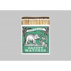 Grande boîte allumettes Elephant and lion 10 cm x 150