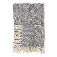 Plaid gris en coton - 160 x 130 cm - Bloomingville
