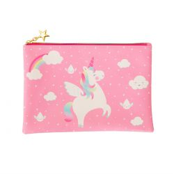 Trousse plate licorne et arc en ciel Sass and belle