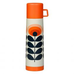 Thermos vintage Orla Kiely fleurs orange 750 ml