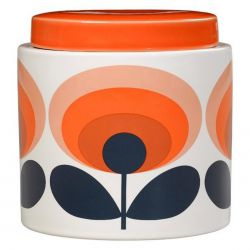 Pot en céramique Orla Kiely tons orange vintage