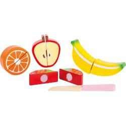 Assortiment de fruits en bois à scratch