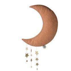 Lune rose avec étoiles 45 cm Picca Loulou
