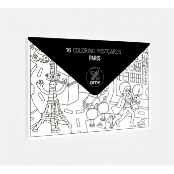 Pocket map Paris Omy Design and Play