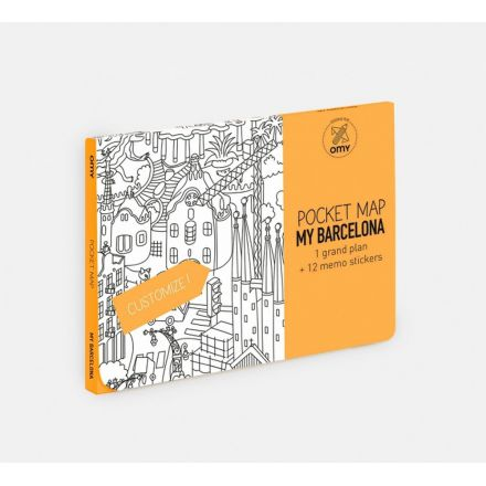 Pocket map Barcelone Omy Design and Play