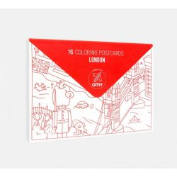 16 Cartes postales à colorier London Omy Design and Play