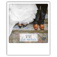 Carte pickmotion - Vive les mariés