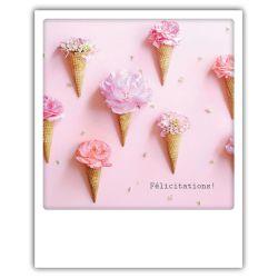 Carte pickmotion - Félicitation glaces