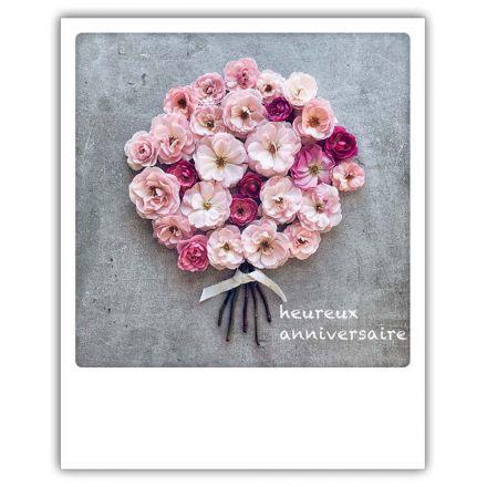 Carte pickmotion - Heureux anniversaire bouquet