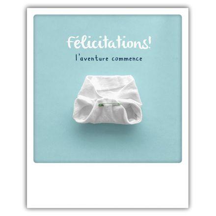 Carte pickmotion - Félicitations l'aventure commence
