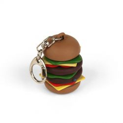 Porte clef LED hamburger