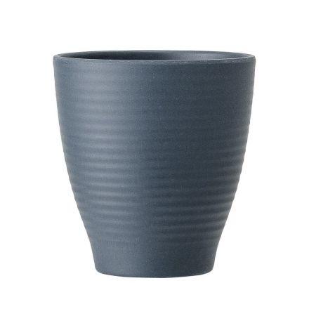 Verre bambou bleu pétrole 8.5 cm