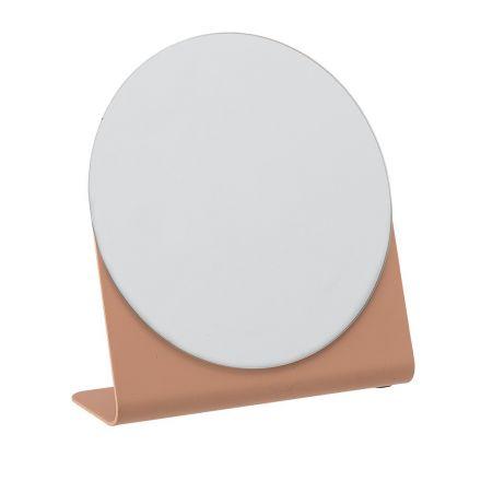 Petit miroir rose avec son soncle