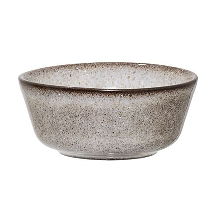 Petit bol gris avec rebords marrons 8 cm