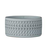 Bol gris bleuté motifs géométrique 11 cm