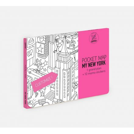 Pocket map my new york Omy Design and Play